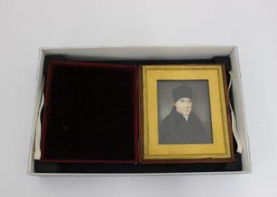 Cased portrait miniature in bespoke archival storage box