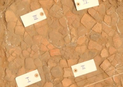 Pottery pavement in situ