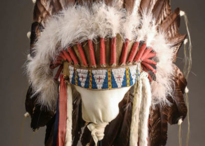 Conservation of a Native American Indian Feather War Bonnet